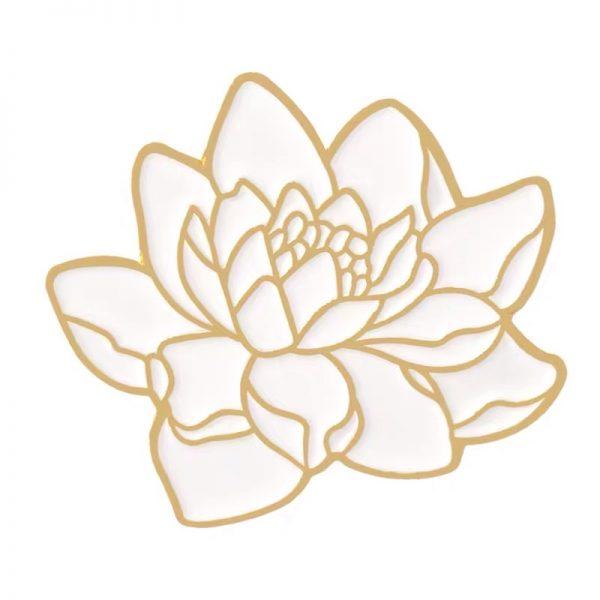 Japanese lotus pin