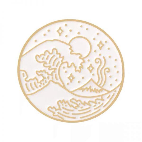 The great wave Kanagawa pin