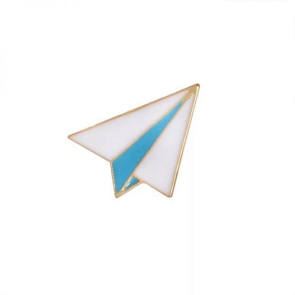 Paper airplane pin