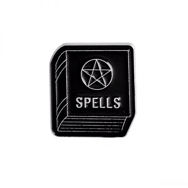 Witchcraft spells book pin