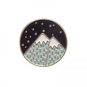 Night stars landscape pin
