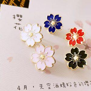Japanese sakura cherry blossom pin