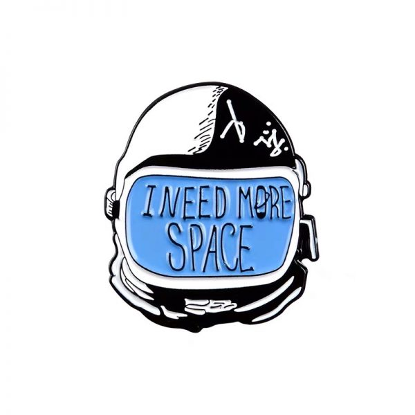 Need more space astronaut helmet pin