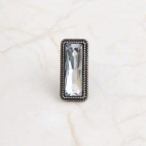 White jewel vintage pin