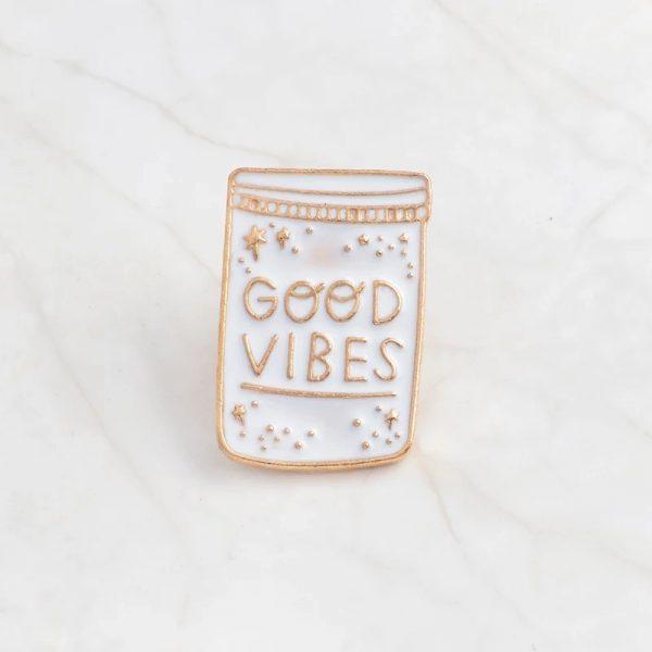 Good vibes jar pin