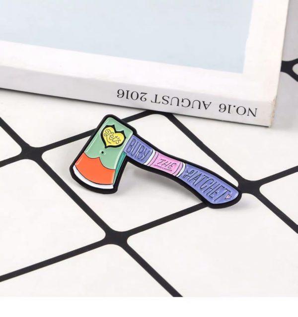 Bury the hatchet pin