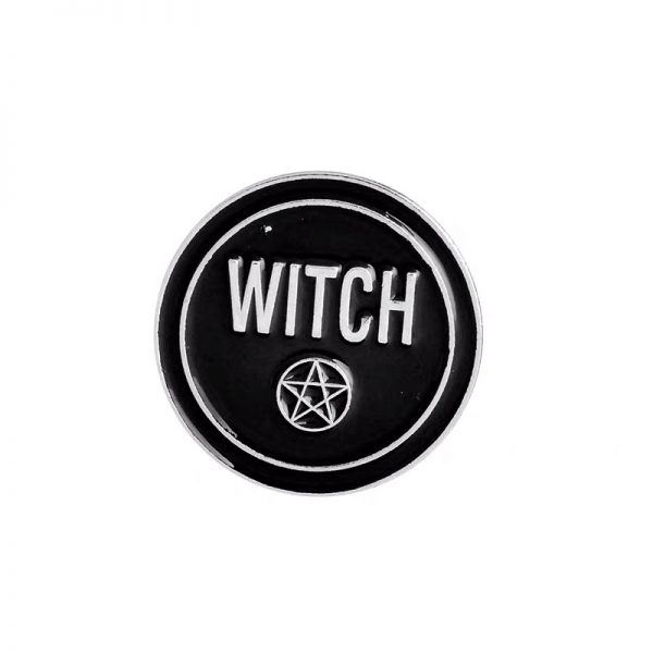 Witchcraft star black pin